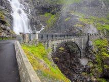 Trollstigen在挪威 库存图片