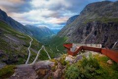Trollstigen挪威 免版税库存照片