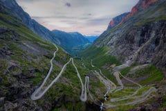 Trollstigen挪威 库存图片