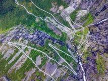 Trollstigen挪威 图库摄影