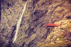 Trollstigen观点在挪威 图库摄影