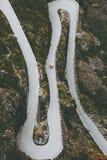 Trollstigen路在挪威 图库摄影