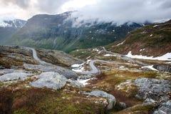 Trollstigen路在Geiranger,挪威 图库摄影