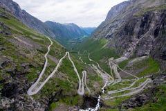 Trollstigen,挪威 库存图片