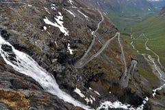 Trollstigen, Норвегия Стоковое Изображение