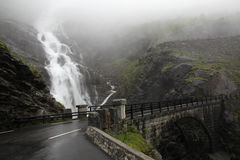 Trollstigen, дорога в горах, Норвегия Стоковое Изображение RF