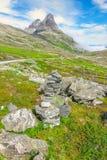 Trollstigen (дорога) тролля Норвегия Стоковое Фото