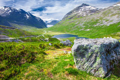 Trollstigen (拖钓的路)挪威,欧洲 库存图片