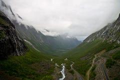 Trollstigen Stock Foto's