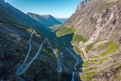 Trollstigen Στοκ εικόνες με δικαίωμα ελεύθερης χρήσης