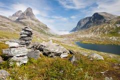 Trollstigen (de weg van de Sleeplijn) Noorwegen Royalty-vrije Stock Foto