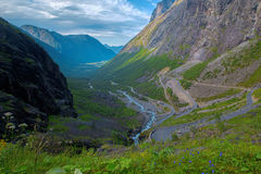 Trollstigen em Noruega Imagem de Stock