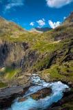 Trollstigen en Noruega Imágenes de archivo libres de regalías