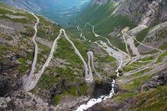 Trollstigen en Norvège photographie stock