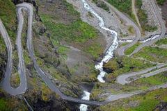 Trollstigen en Norvège Photographie stock libre de droits