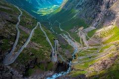 Trollstigen en Norvège Photo stock