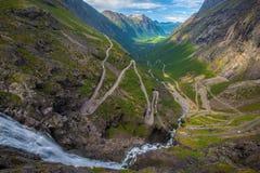 Trollstigen en Norvège Images libres de droits