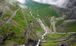 Trollstigen en Norvège Image stock