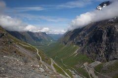 Trollstigen Gebirgsdurchlauf Stockbild