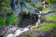 Trollstigen-Haarnadelkurven Stockbilder