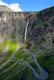 Trollstigen Hairpin Bends Stock Photos