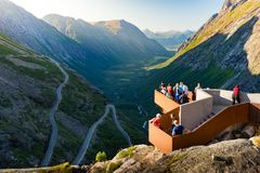 Trollstigen halna droga w Norwegia, Europa Obraz Stock