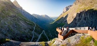 Trollstigen halna droga w Norwegia, Europa Zdjęcie Royalty Free