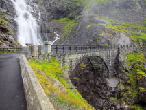 Trollstigen i Norge Arkivbilder