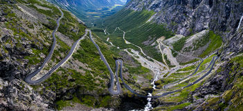 Trollstigen i Norge Arkivfoton