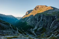 Trollstigen - mountain road in Norway Stock Image