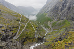 Trollstigen mountain road Royalty Free Stock Photo