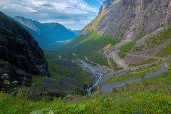 Trollstigen in Noorwegen Stock Afbeelding