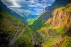 Trollstigen in Noorwegen Stock Foto