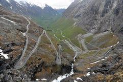 Trollstigen, Noorwegen Royalty-vrije Stock Foto's
