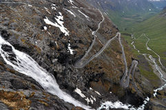 Trollstigen, Noorwegen Stock Afbeelding