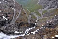 Trollstigen, Noorwegen Stock Afbeeldingen