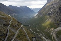 Trollstigen, Norge Royalty Free Stock Image