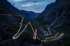 Trollstigen Norvège Images libres de droits