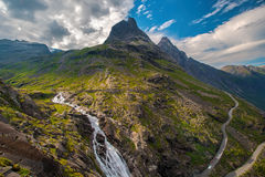 Trollstigen in Norvegia Fotografia Stock