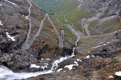 Trollstigen, Norvegia Immagini Stock
