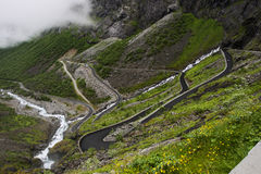 Trollstigen in Norway Stock Images