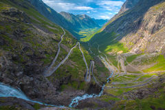 Trollstigen in Norway Royalty Free Stock Images