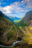 Trollstigen in Norway Stock Photo