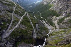 Trollstigen. Norway road trollstigen, curves and curve royalty free stock photos