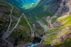 Trollstigen in Norwegen Stockfoto
