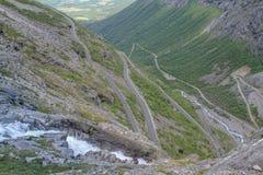 Trollstigen, Norweska krajowa droga RV63 Obrazy Stock