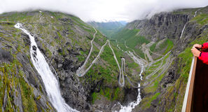 Trollstigen over view Royalty Free Stock Photo