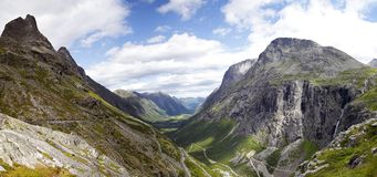 Trollstigen Panorama Royalty Free Stock Image