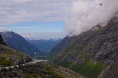 Trollstigen Pass. Top of the famous norwegian Trollstigen Pass Stock Images