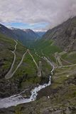 Trollstigen pass, Norway. One of the most dramatic mountain passes in the world, Trollstigen in Norway Stock Images